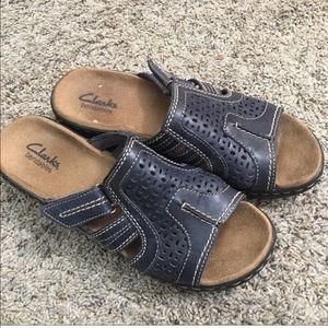 Clark's Bendables Leather Sandals - Size 7